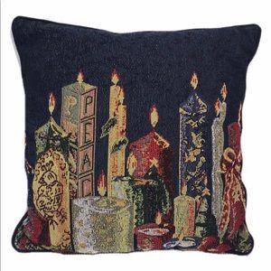 Christmas Candle Light Decorative Throw Pillow